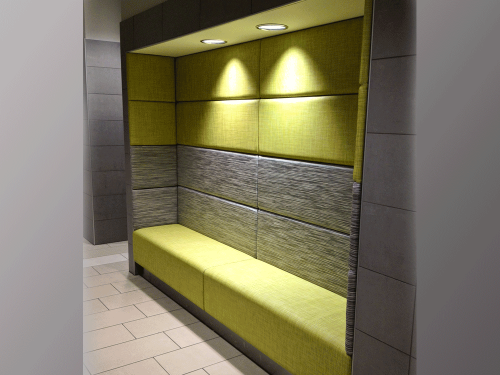 Alcove Seating In Between Walls Straight Or Curved