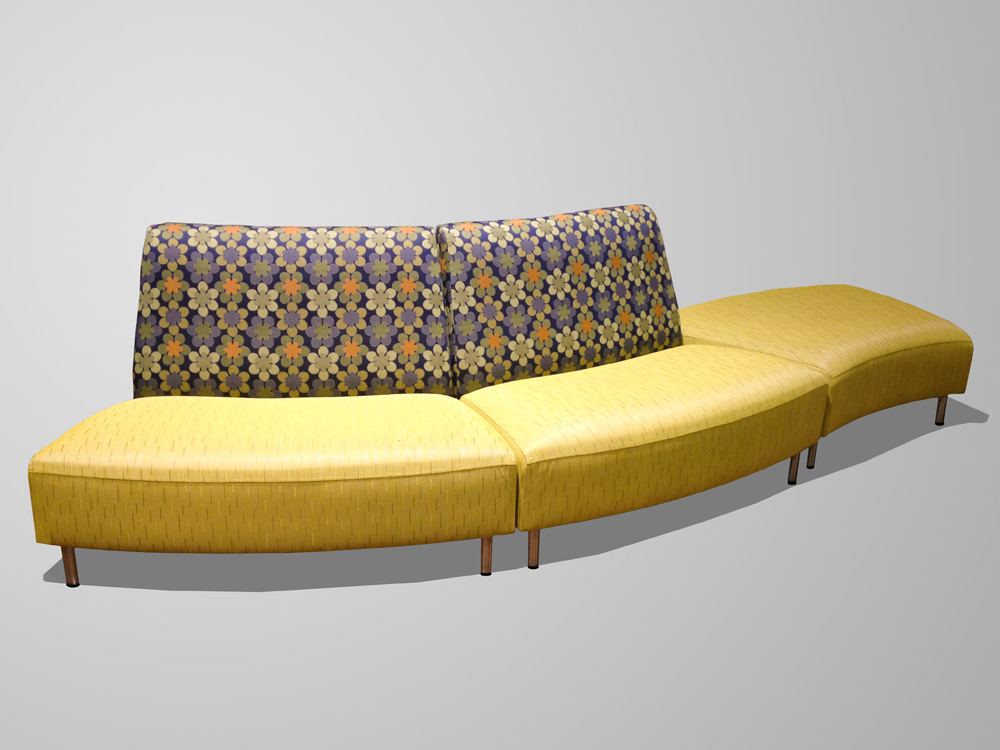 click to enlarge - Curved Loveseat
